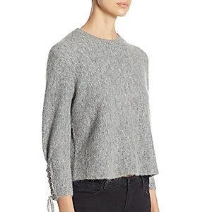 NWT 3.1 Phillip Lim Textured Lace-Up Pullover